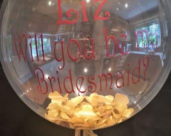 Bridesmaid Confetti Balloon