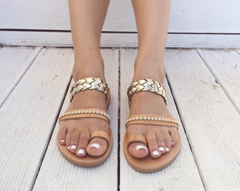 Leather Sandals, Αncient Greek Sandals, Women's Sandals, Greek Sandals, Leather Flat Sandals, Ancient Sandals, Made from Genuine Leather.