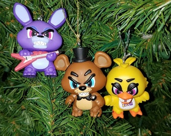 Five Nights at Freddy's Christmas Ornament Set of Three The Show Stage: Freddy Fasbear, Bonnie and Chica FNAF