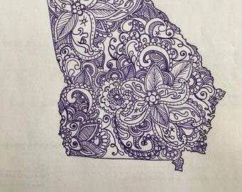 Paisley State Drawing - Georgia