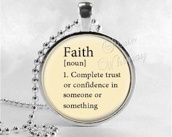 Faith definition etsy faith pendant necklace word definition mozeypictures Gallery