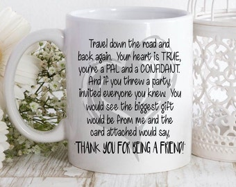 Golden Girls theme song coffee mug,lyrics on mug,songs,golden girls mug,bff gift,friend gift,theme song mug,theme song, golden girls mug