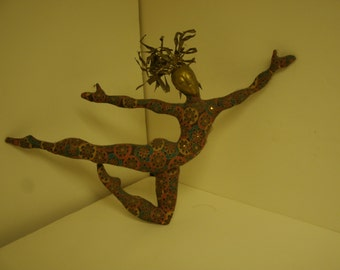 Golden Dancer Wall Hanging Limited Edition Fabric Doll