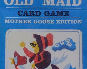 Old Maid Card Game, Mother Goose Old Maid, Old Maid Edition 1970s, Collectible Games, Retro Card Games, Games, Family Game Night, Old Maid