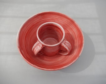 Passover Gift - Pottery Washing Cup and Bowl - Passover Negel Vasser and Bowl - Netilat Yadayim- Judaica Wedding Gift