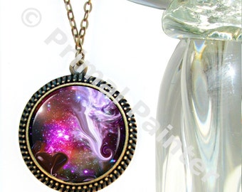 "Guardian Angel Necklace, Unique Jewelry, Art Pendant, Reiki Jewelry ""The Guardian"""
