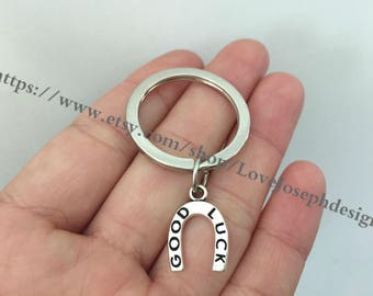 Good Luck Horseshoe keychain, Good Luck Horseshoe gifts key ring
