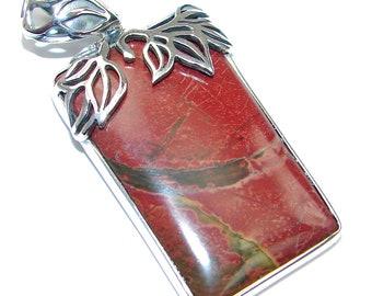 Red Creek Jasper Sterling Silver Pendant - weight 11.70g - dim L -2, W -1, T -1 4 inch - code 12-gru-15-11