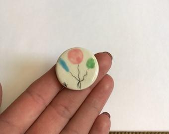 Ceramic Studio Bunch of balloons Button
