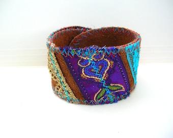 Handmade Leather Bracelet - Hippie Bracelet - Rustic Boho Cuff Bracelets - Leather - Bohemian Jewelry - Customizable