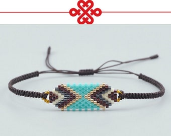 Handmade Bracelets Popular Geometric Lucky Handmade Charm Delica Bead Bracelets & Bangles