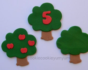 12 edible FRUIT TREE WOODLAND age apple garden farmer cake decorations cupcake wedding topper decoration party wedding birthday engagement