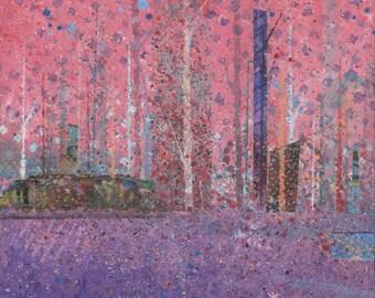 Pink Forest Landscape