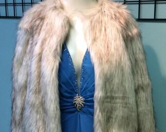 Platinum  fox faux fur jacket