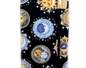 Kindle Keyboard cover, made to order - Sun Moon Stars - hard sided paperwhite, touch cover - kobo touch cover