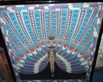 Erte scarf art deco Egyptian