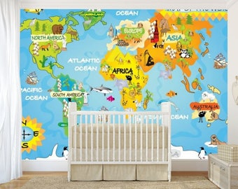 Kids world map wallpaper children world map wallpaper kids kids world map wall mural children world map wallpaper kids world map map decal world map wall mural education world map map for kids gumiabroncs Choice Image