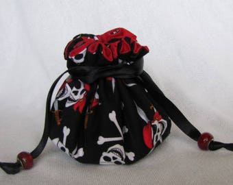 Traveling Jewelry Bag - Medium Size - Pouch - Travel Tote - SKULLY