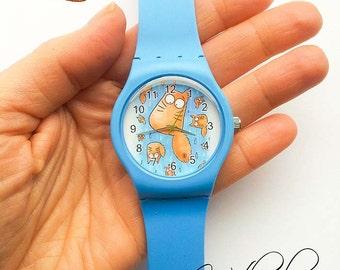 RAINING CATS - Plastic sport watch  -  PookieCat - FREE shipment