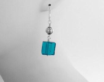 Murano Glass, Blue Jewelry, Nickel Free Earrings, Under 30 Dollars, Secure Earrings, Summer Accessories, Wedding Jewelry, Charitable Gift