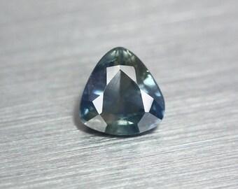 1.832ct Unique Earth Mined Nr!! Certified Unheated Ceylon Greenigh Blue Sapphire