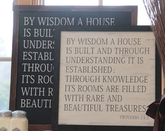 Classical Conversations Homeschool Sign Proverbs 24:3 Joanna Gaines Magnolia Farms By Wisdom A House Is Built Bible Verse Farmhouse Sign