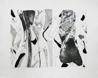 Josep Guinovart - Hand colored, Embossed Etching S/N (HC) - 1979