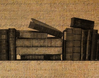 Old Antique Books Digital Image Download Transfer To Pillows Tote Bags Tea Towels Burlap No. 1714