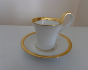 """Vintage """"Furstenburg"""" China Cup And Saucer, Made In Germany, 1960's - Vintage Cup & Saucer - Vintage China - Antique Cup And Saucer"""