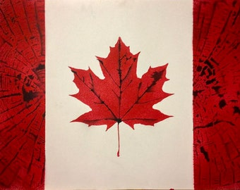 Canadian Flag - Spray Paint Stencil Print
