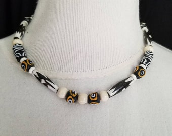 Wild Heart. African Bead Necklace