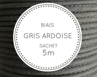 Sachet 5 m bias - slate grey 23