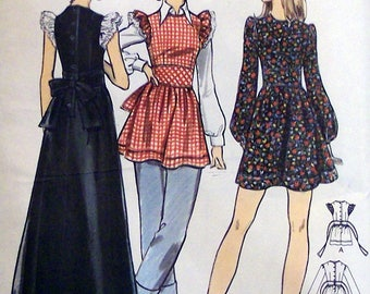 1970's Butterick 6915 Junior Dress And Smock Pattern, Size 13