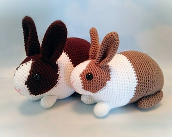 Crochet Dutch Bunny Rabbit Amigurumi Plush Stuffed Animal