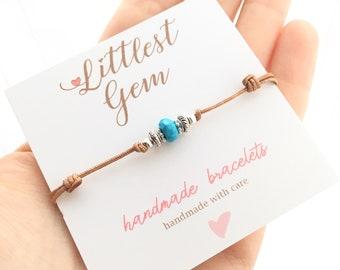 Turquoise Boho Jewelry - Boho Bracelet - Jewelry Gift - Brown - Silver - Beaded Bracelet