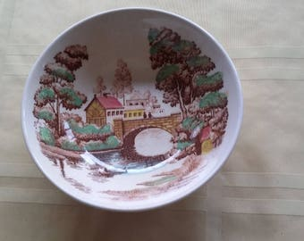 Nasco Holiday  soup Plate Made In Japan