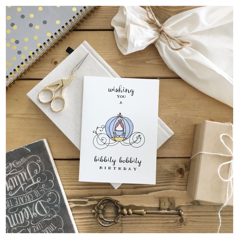 Cinderella // birthday card, disney birthday card, disney princess ...