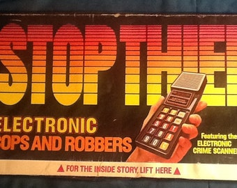 Stop Thief Electronic Board Game Parker Brothers Complete Tested & Works