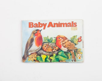Baby Animals Pop-Up Book, Vintage Children's Pop-Up Book, 1990
