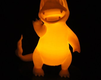Pokemon Charmander Lamp Cute Night Light, adorable led pokemon go birthday gift