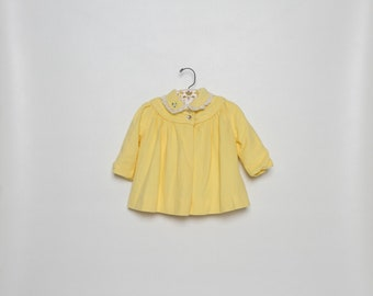 vintage 1950s yellow girls coat by Millicent 50s spring jacket dress coat