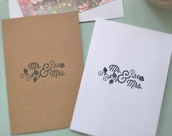 Mr & Mrs Wedding Engagement Card