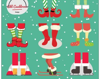 Christmas feet clipart commercial use instant download, vector graphics, digital clip art, digital images CL001