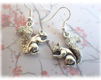Squirrel - Earrings natural earrings forest animals