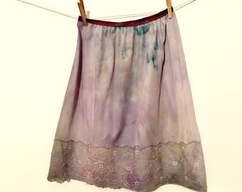 Vintage Hand Dyed Slip Skirt