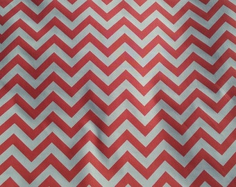 Fabric by the yard, Pink chevron fabric, salmon fabric, pink, chevron fabric, zigzag fabric, Premier Prints fabric, home decor, chevron