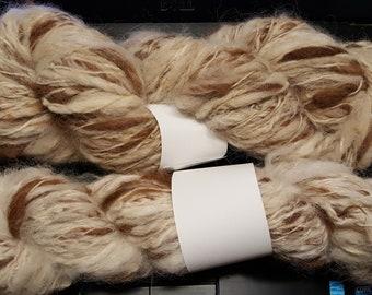 Art Yarn Brown and White 100% Alpaca