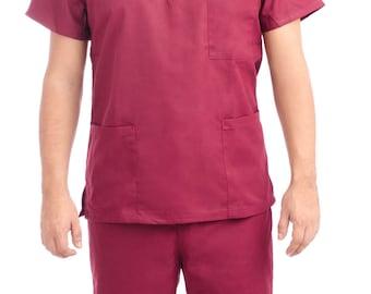 Burgundy Medical Scrub Uniform Set