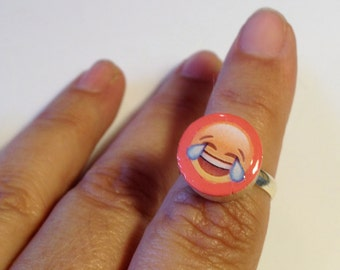 Mood Rings Emoji - Wooden Rings - Handmade Rings - Painted Wood - Gick Gift