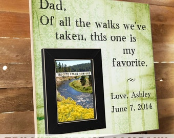 Father of the Bride Gift Personalized Picture Frame, Wedding Gift for Parents, Parent Thank You Gift Wedding, Of All The Walks,  16x16